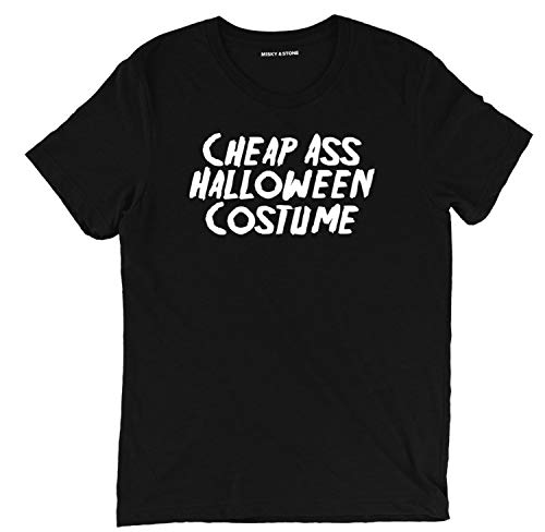 Misky & Stone Ass Halloween Costume Funny Halloween Humor Budget T Shirt ()