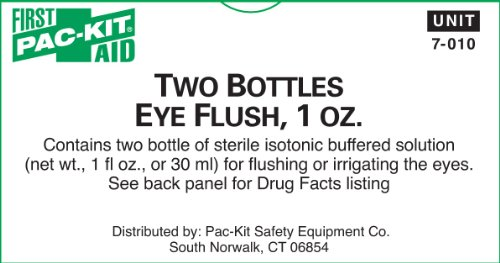 Pac-Kit by First Aid Only 7-010 Eye Flush, 1 oz Bottle (Box of 2) ()