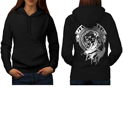 [Fearless Wild Animal Tiger Bear Women S Hoodie Back | Wellcoda] (Bear Jew Costume)