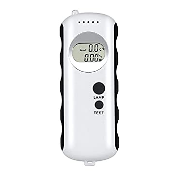 Alcohol Tester Alcoholemia Portátil Digital Aliento LCD Pantalla Soplar Tipo Detector De Alcohol con Cuerda Colgante para Conducir Ebrio HMYH: Amazon.es: ...