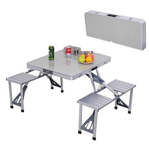 Folding Table 4 Collapsed Lightweight Portable Camping Suitcase Picnic - Warehouse Frame Coupons