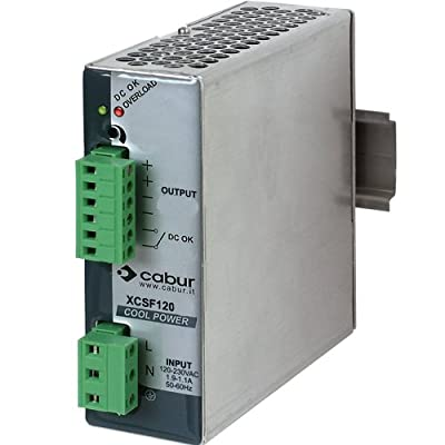 ASI XCSF120DP DIN Rail Mount Power Supply for Use with DC Motors, 48 Vdc, 120 Watt, 2.5 Amp Output, 90 to 264 Vac Input, (Pack of 1)