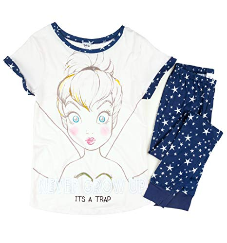 Womens Disney Tinkerbell Never Grow Up Pyjamas ()