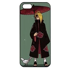 Naruto Manga Anime Comic Apple iPhone 5 TPU Soft Black or White case (Black)