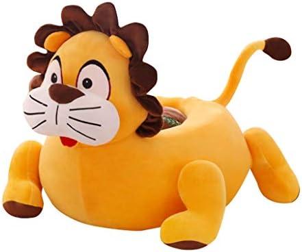子供 ベビーソファカバー ベビーチェア シートカバー 可愛い 漫画動物 ベルベット 贈り物 55×50cm - ライオン(黄色)