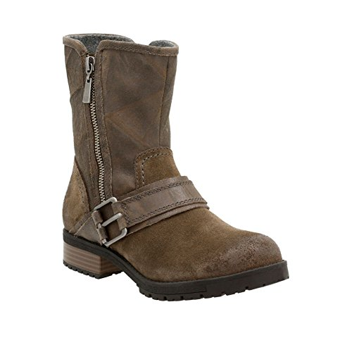CLARKS Women's Faralyn Rise Boot, Khaki Suede, 7.5 M US