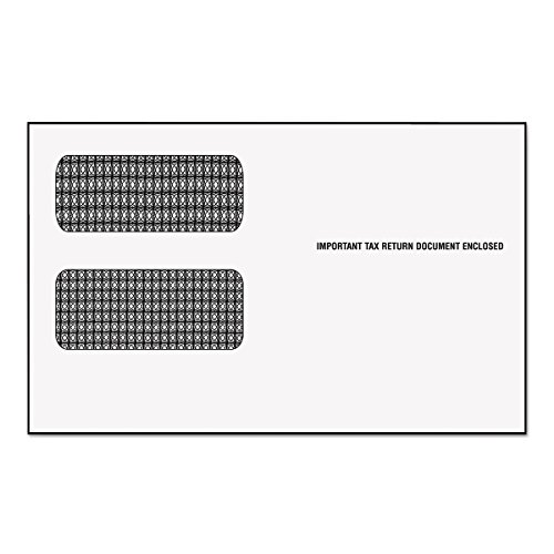 TOPS Double Window Tax Form Envelopes for 1099 Misc./R Forms, 9 x 5 5/8 Inches, 24-Pack (2222) string