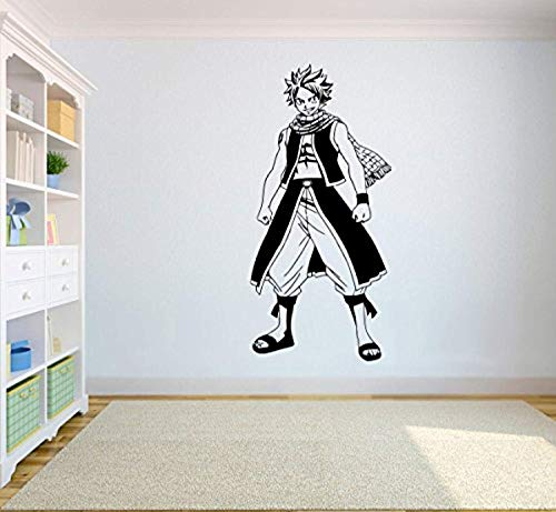 Tail Vinyl - Fairy Tail Wall Vinyl Decal Natsu Dragneel Wall Stickers Anime Vinyl Image Child RoomSCedRoomCSt10(19x40)