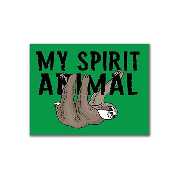 Sloth My Spirit Animal 3X4In. Rectangular Decal Sticker -