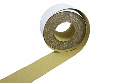 """ABN Adhesive Sticky Back 220-Grit Sandpaper Roll 2-3/4"""" Inch x 20 Yards Aluminum Oxide Golden Yellow Longboard Dura PSA by ABN (Image #3)"""