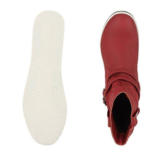 napoli-fashion - Botas clásicas Mujer Rojo