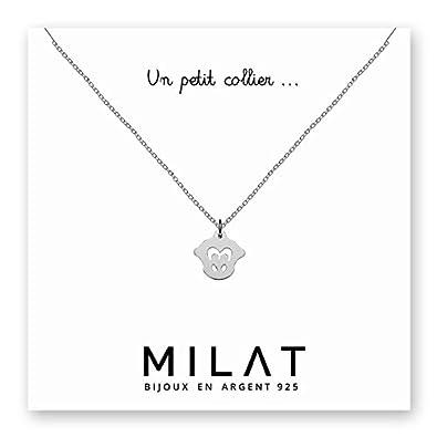 Mono-Collar con colgante para mujer de plata 925-Ideal para ...