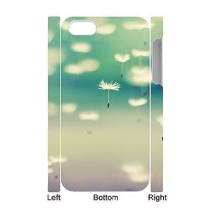3D Yearinspace Bokeh Flowers IPhone 4/4s Case Flying Dandelions Bokeh Protector for Girls, Iphone 4 S Case Case Protector for Girls [White] BY BYS DESIGNS