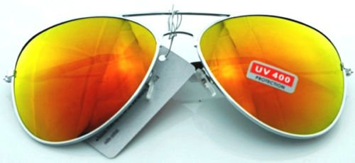 JUJU MALL-Unisex Vintage Retro Women Men Glasses Aviator Mirror Lens Sunglasses - Dg China Sunglasses Wholesale