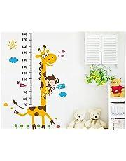 ملصقات للجدران، على شكل حيوانات لقياس طول الاطفال/الصغار، ملصقات فنية، ملصقات قابلة للتركيب اليدوي