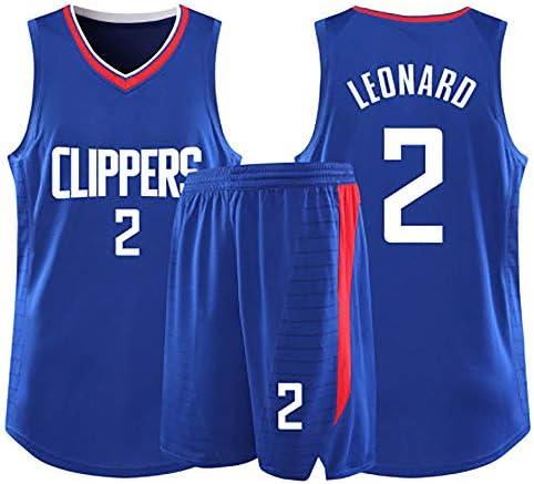 子供用バスケットボールスーツギフト Kawhiレナードの夏のバスケットボールスーツ スタージャージ、メッシュバスケットボールジャージ、