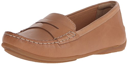 Clarks Women's Doraville Nest Slip-On Loafer, Tan Leather, 9 M US