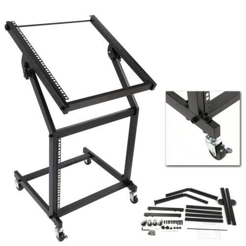 New 19U Rack Mount Stand DJ AMP Music Studio Equipment Mixer Case Rolling Cart