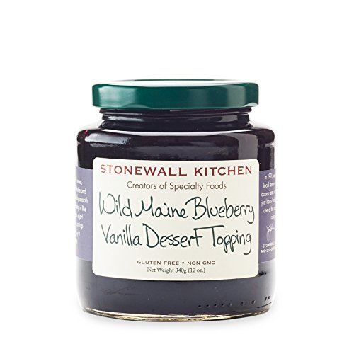Stonewall Kitchen Wild Maine Blueberry Vanilla Dessert Topping, 12 oz
