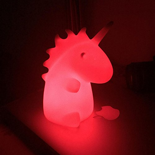 Color Changing Led Magical Unicorn Night Light  Children Lamp  Baby Nursery Lamp Bedroom Light Adorable Light Cycles Through Rainbow Of Colors Battery Operated Holiday Home Decoration