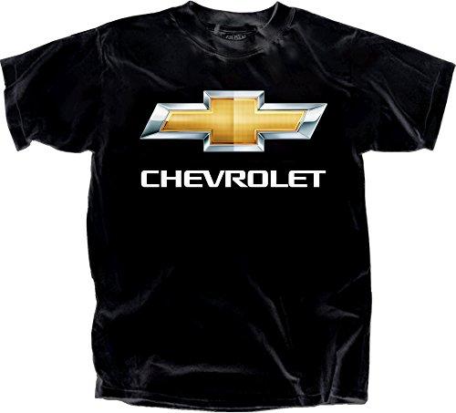 Gildan Men's Chevy Bowtie Chrome Logo T-Shirt, XX-Large, Black