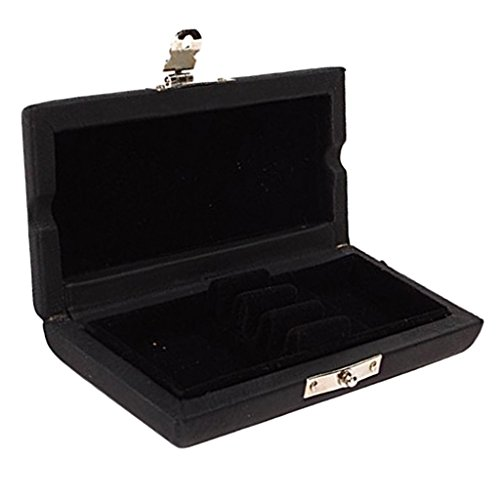 MonkeyJack 3x Oboe Reeds Case Box Holder PU Leather & Wooden for Wood Wind Parts Black by MonkeyJack