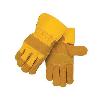 Black Stallion 5Y Side Split Cowhide, Patched Palm Work Gloves, Large