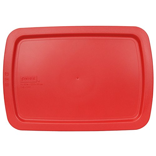 """Pyrex Red Plastic Lid for 9"""" X 13"""" 3-qt C-233-PC for Oblong Easy Grab Glass Baking Dish"""