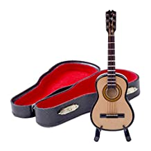 Per Mini Classic Guitar Miniature Wooden Musical Instruments Collection Decorative Ornaments