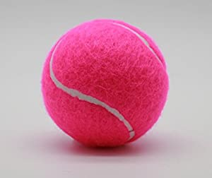Prices Tube of 3 Colour tennis balls(1 x 3Pink balls)