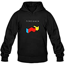 XIULUAN Men's Foreigner Band Logo Pop Pock Hoodies Size L ColorName