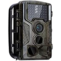 HD Wildlife camera Trail & Game, Infrared Scouting Hunting Cameras Deer Camera 1080P Night Vision up to 65ft IP56 Waterproof