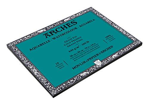 300 Lb Cold Press - Arches 200177595 Watercolor Block, Cold Press, 10