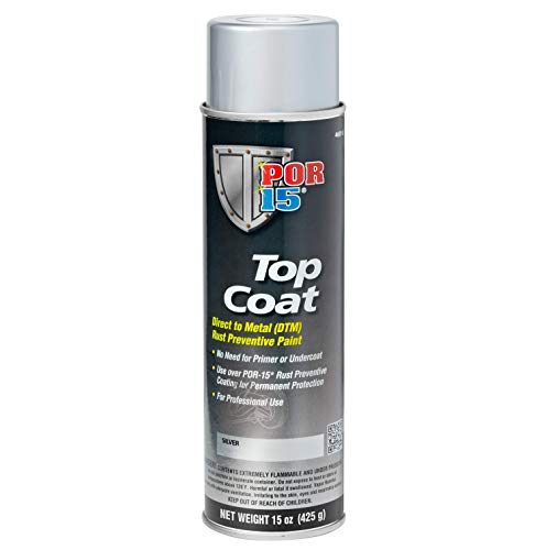 POR-15 46018 Top Coat Silver Spray Paint, 15. Fluid_Ounces
