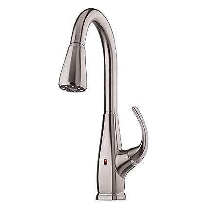 Selia TouchFree PullDown Kitchen Faucet With React FESLS - Touch free kitchen faucet