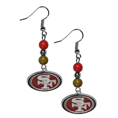 49ers Fan San Nfl Francisco (Siskiyou NFL San Francisco 49ers Fan Bead Dangle Earrings)