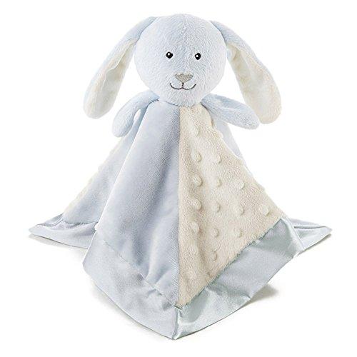 UPC 846847090268, Snoozies Cozy Little Lovies Plush Satin Baby Blanket - Blue Bunny