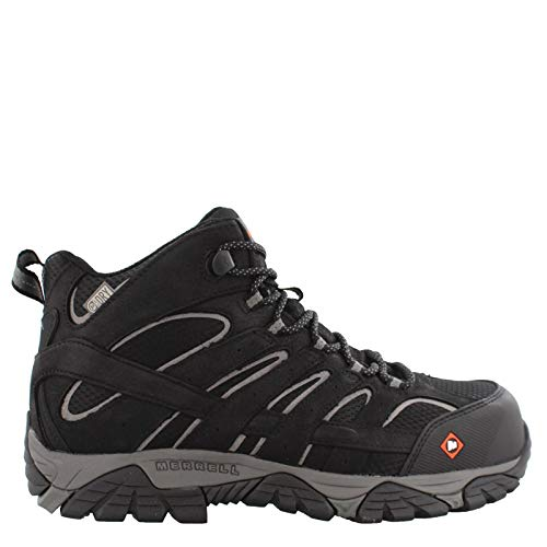 - Merrell Work Men's Moab Vertex Mid Waterproof Composite Toe Black 10.5 W US