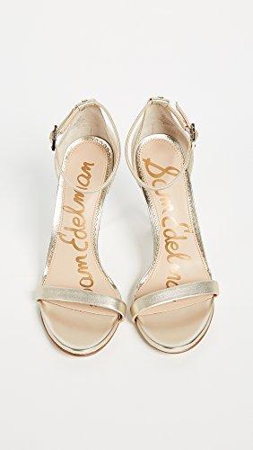 Edelman Jute Heeled Women's Metallic Sandal Leather Ariella Sam Tpq7wxXd7