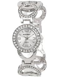 Ellen Tracy Women's ET5047SL Silver Dial Circle Chain Link Watch