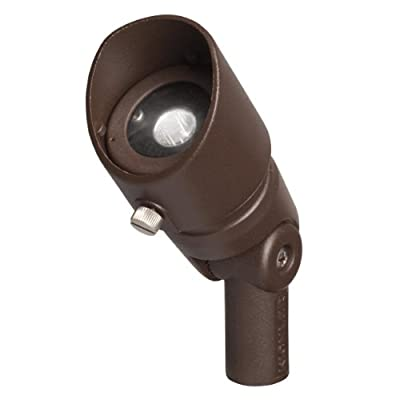Kichler 16001AZT27 12V LED 3W 35-Degree Flood 2700K, Textured Architectural Bronze