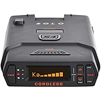 Escort Solo S4 Radar Detector - Cordless, Escort Live Crowd Sourcing, Extreme Range, False Alert Filter, OLED Display, Clear Voice Alerts