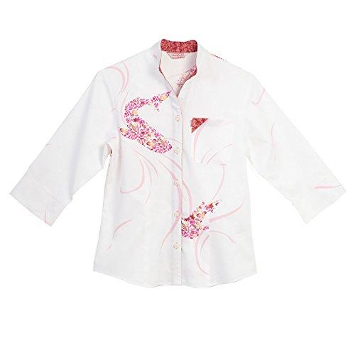 シャッター暗殺者松明MAJUN (マジュン) かりゆしウェア アロハシャツ かりゆし 結婚式 レディース シャツ ジンベイザメ花模様