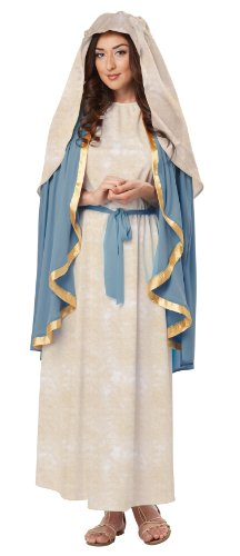 Mary Halloween Costumes (California Costumes Women's The Virgin Mary Adult, Blue/Cream, X-Large)