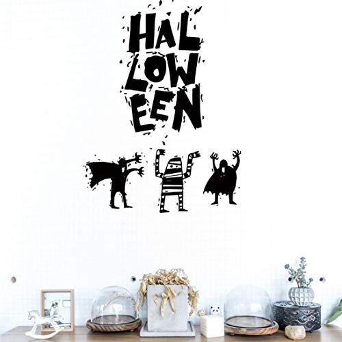 Exteren Halloween Witch Background Decorated Living Room Bedroom Wall Stickers Grim Reaper Wall Stickers for Living Room Kitchen Bathrooms Bedroom etc (Black)