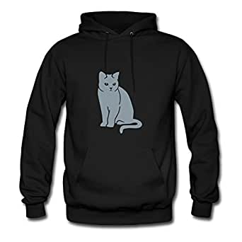 Cat Lovely X-large Sweatshirts Personalized For Women Black