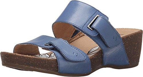 Naturalizer Women's Carena Slide Sandal,Ocean Blue Hispacho Leather,US 9.5 M