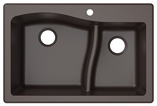 Kraus KGD-442BROWN Quarza Granite Kitchen Sink, 33-inch, Brown (Best Sink For Kitchen Remodel)