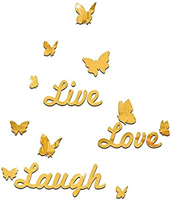 Removable LIVE LAUGH LOVE Quotes Butterfly Wall Stickers Art Mural Decal Decor