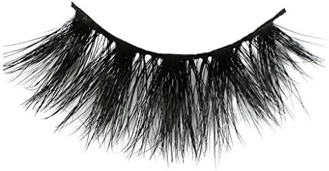 つけまつげ 人気 つけまつげ ナチュラル LLuche 3Dミンクつけまつ毛ア グラマラスボリュームアイラッシュ ふんわりロングまつ毛 ふんわりロングまつ毛 一対の25mmミンクまつげつけまつげ25mmの3Dミンクの長いまつげが付いている劇的な構造(黒,つけまつげ 装着簡単 綺麗 極薄)